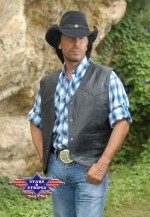 WESTERN LEDERWESTE JASON stars und stripes