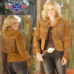 kayla lederjacke stars stripes westernfashion western kleidung. Black Bedroom Furniture Sets. Home Design Ideas